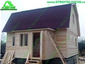 Брусовой дом по проекту «Д-5ст»