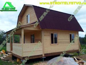 Дом 6х6м с террасой