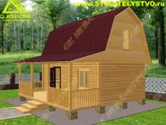 Дом 6х4м с террасой 2х6м «Д-65ст»
