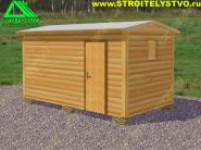 Перевозная деревянная баня из бруса «Б-1пб»
