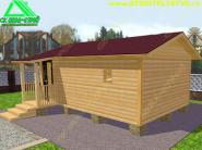 Одноэтажная деревянная баня из бруса «Б-1ст» 6х4