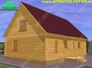 Деревянный дачный дом 7х10м «Д-67ст»
