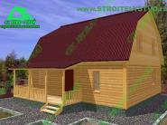 Типовой проект загородного дома 7х8 «Д-68ст»