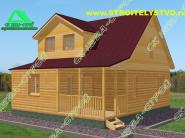 Деревянный загородный дом «Д-69ст»