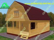 Деревянный дачный дом «Д-70ст» 6х8.5м