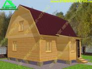 Двухэтажный брусовый дом 6х7 «Д-5ст»