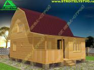 Дачный дом с мансардой  6х8 под ключ «Д-8ст»
