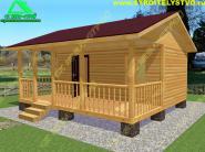 Дом из профилированного бруса 6х5 с открытой террасой «Д-9ст»