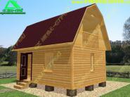 Типовой проект дачного дома из бруса 6х4 «Д-11ст»