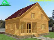 Проект деревянного коттеджа 8х8 «Д-20ст»