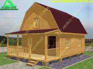 Проект деревянного дома из бруса 6х8 «Д-32ст»
