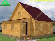 Загородный дом с каркасно-щитовой верандой 8х8 «Д-40ст»