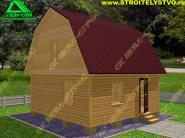 Двухэтажный дачный дом из бруса 6х6 «Д-41ст»