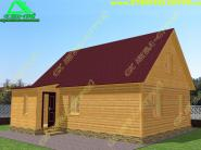 Двухэтажный дом с крыльцом-тамбуром 6х9 «Д-45ст»