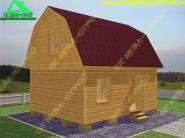 Садовый домик 5х6 с мансардой под ключ «Д-46ст»