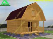 Типовой проект деревянного дома 6х6 «Д-49ст»