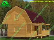 Садовый домик с террасой 4х9 «Д-58ст»