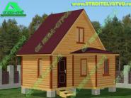 Проект: дачный дом из бруса 3х6м «Д-79ст»