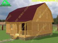 Деревянный дачный дом из профилированного бруса 7х8 «Д-59ст»
