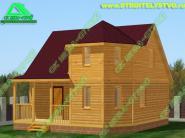 Дом с эркером 7х7.5м «Д-61ст» 563000 рублей