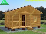 Проект одноэтажного дачного дома из бруса 6х4 «Д-12ст»