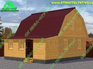 Двухэтажный дом из бруса 6х7м «Д-66ст» с верандой 2х7м