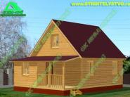Дачный дом «Д-84ст» 6х8м