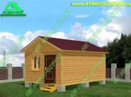 Дом из бруса 6х4 «Д-88ст» - 238000 рублей