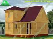 Проект двухэтажного деревянного дома 6х7,5 «Д-27ст»