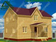 Деревянный дом из бруса 6х8 под ключ «Д-7ст»
