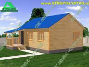 Проект комфортабельного одноэтажного дачного дома 6х8 «Д-37ст»